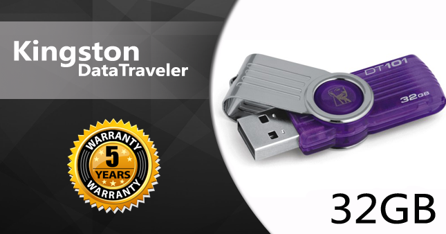 28% OFF! Kingston 32GB USB Flash Drive worth Rs. 2,500 for just Rs. 1,800 inclusive of Five Year Warranty!
