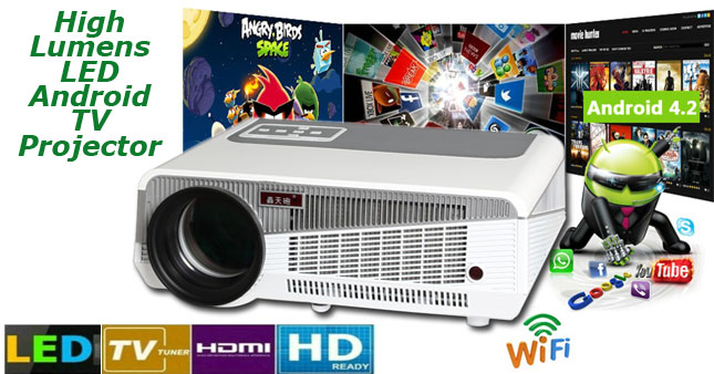 45% OFF! 5500 Lumens Professional Multimedia Projector with Android, WiFi, Miracast Airplay and TV Tuner worth Rs. 90,000 for just Rs.49,500 inclusive of Warranty!
