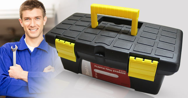 42% OFF! 13 inch Plastic Tool Storage Box worth Rs. 1,450 for just Rs. 850!