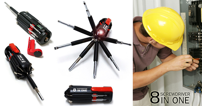 80% OFF! Rs. 1,800 worth 8 in 1 Multi-Screwdriver with Powerful Torch just for Rs. 350!