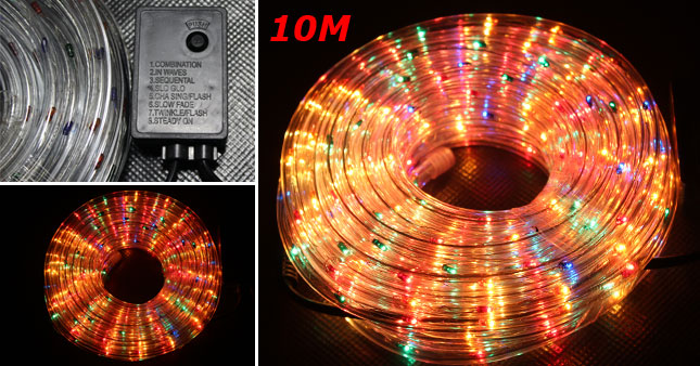 44% OFF! Illuminate this Vesak with a 10m Flashing Multi-Colour Rope Light with Pattern Controller worth 1,950 for just Rs. 1,100!