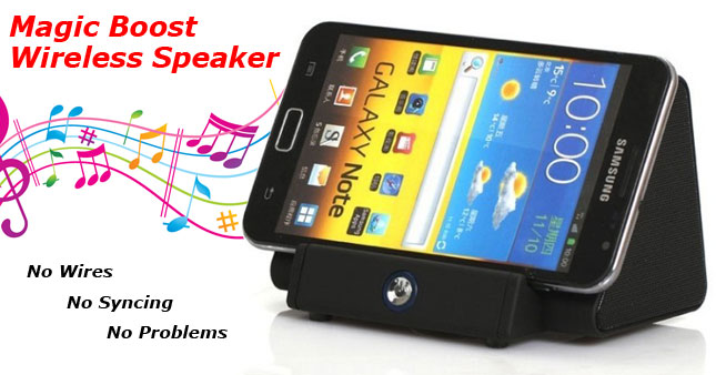 66% OFF! Price further reduced! No Wires! No Syncing! No Problems! Get Magic Boost Wireless Speaker Box worth Rs. 5,900 for just Rs. 1,950!