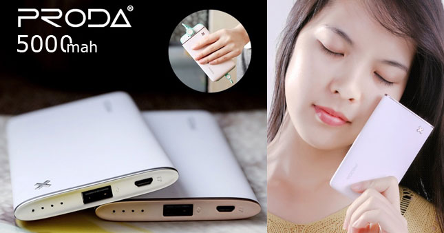 40% OFF! PRODA Ultra-slim 5000mAh Power Bank worth Rs. 3,250 now at only Rs. 1,950 inclusive of Warranty!