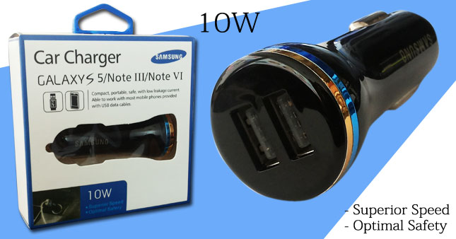 41% OFF! Samsung Dual Mini USB Car Adaptor/ Charger worth Rs. 590 for just Rs. 350!