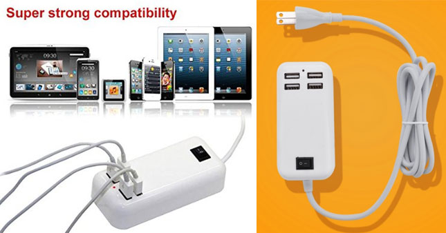 50% OFF! 15W USB 4 Port Desktop Charger worth Rs. 2,000 for just Rs. 999 with 6 month Warranty!