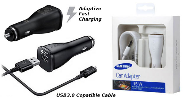 50% OFF! Original Samsung 2.0A 15W Car Adapter Fast Charger with cable worth Rs. 2,900 for just Rs. 1,450 inclusive of Warranty!