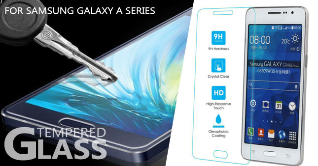 75% OFF! Samsung Tempered Glass Screen Protector for Samsung A3,A5,A8,A9 Series worth Rs. 999 for just Rs. 250!