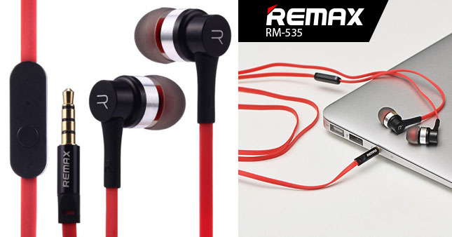 53% OFF! Remax RM-535 Electronic Music In-Ear Headset worth Rs. 2,990 for just Rs. 1,390!