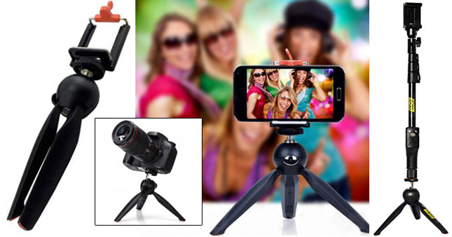 50% OFF! Yunteng YT-228 Mini Tripod Stand with Phone Holder Clip worth Rs. 2,700 for just Rs. 1,350!