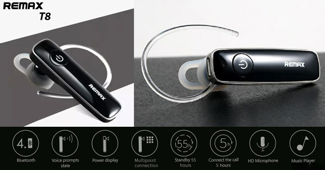 40% OFF! Original Remax T8 Bluetooth V4.1 Stereo Handsfree Headset worth Rs. 3,100 for just Rs. 1,850 inclusive of Warranty!