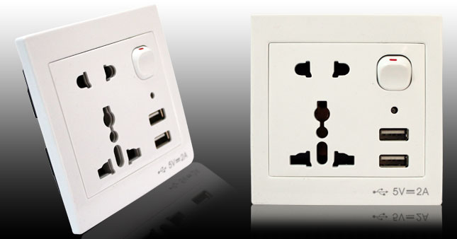 30% OFF! Universal USB Wall Socket worth Rs. 1,350 for just Rs. 950 inclusive of Warranty!