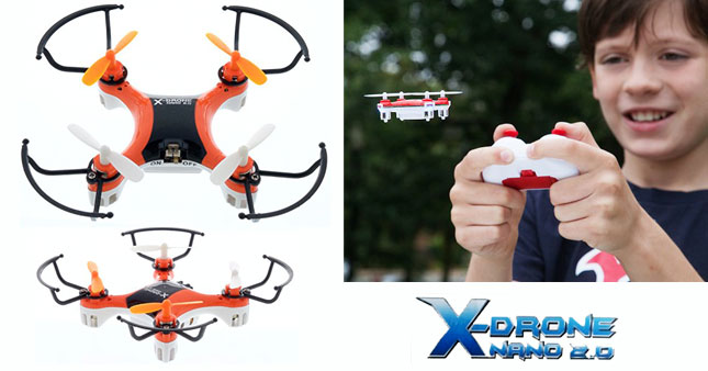 40% OFF! X-DRONE NANO 2.0 Mini Quadcopter Rs. 4,750 for just Rs. 2,850!
