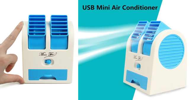 63% OFF! Price further reduced! USB Powered Mini Portable Air Conditioner Rs. 2,350 for just Rs. 850!