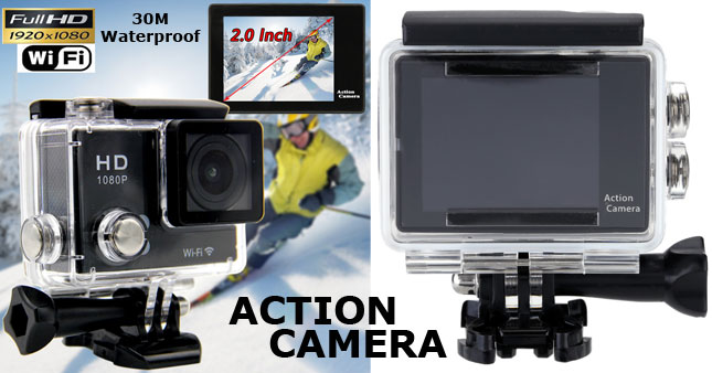 50% OFF! Full HD 30m Waterproof WiFi Action Camera worth Rs. 19,000 for just Rs. 9,500!