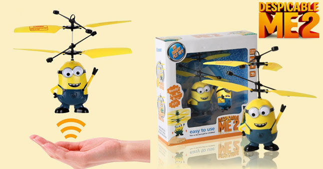 50% OFF! Price Further Reduced! Infrared Control Despicable Me 2 Sensor Flying Toy worth Rs. 1,900 for just Rs. 950!