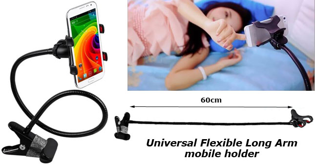 50% OFF! Universal Flexible Long Arms Mobile Phone Holder worth Rs. 1,200 for just Rs. 590!