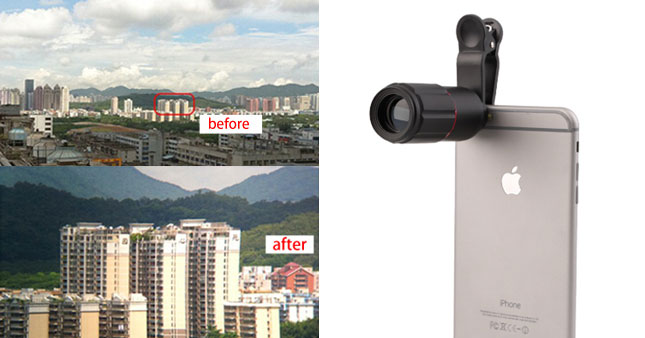 50% OFF! 8x Universal External Mobile Zoom Lense worth Rs. 2,500 for just Rs. 1,250!