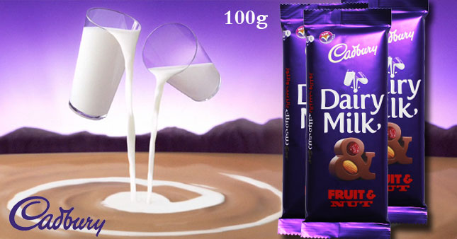 46% OFF! Get a Mouth-Watering 100g Slab of Cadbury Fruit & Nut Dairy Milk Chocolate worth Rs. 650 for just Rs. 350!