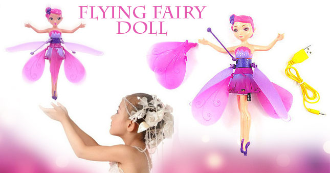 50% OFF! Price Further Reduced! Infrared Induction Control Flying Fairy Toy for your princess worth Rs. 3,200 for just Rs. 1,600!