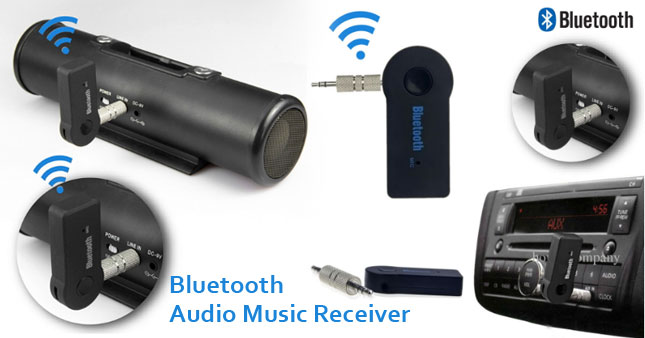 40% OFF! Wireless Bluetooth Audio Music Receiver Rs. 2,100 for just Rs 1,250!