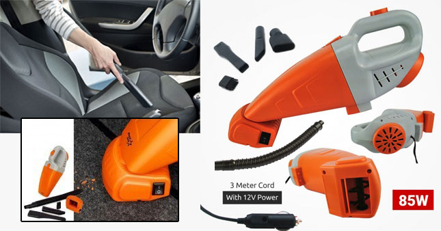 42% OFF! Road Star 85W High Suction Power 12V Car Vacuum Cleaner worth Rs. 3,900 for just Rs. 2,250 Inclusive of Warranty!