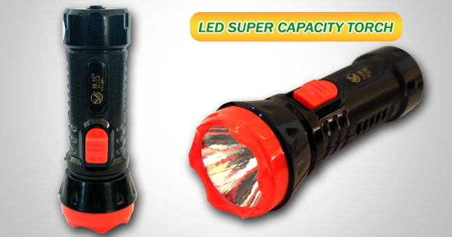 44% OFF! Rechargeable LED Super Capacity Torch worth Rs. 450 for just Rs. 250!