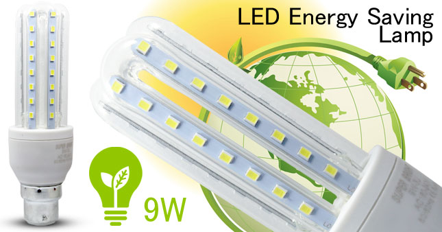 42% OFF! Energy Saving U-Type(3U) Pin Type Cold-White 9W LED Bulb worth Rs. 850 for just Rs. 490 inclusive of Warranty!