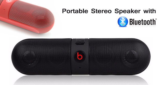 51% OFF! High Quality Pill Portable Stereo Bluetooth Speaker worth Rs. 3,800 for just Rs. 1,850!
