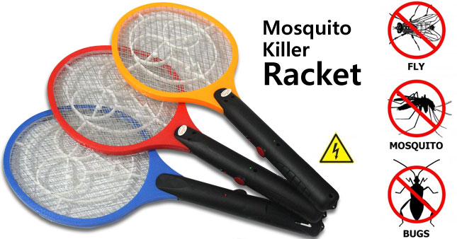 46% OFF! Rechargeable Insect/ Mosquito Swatter Racket worth Rs. 1,100 for just Rs. 590!