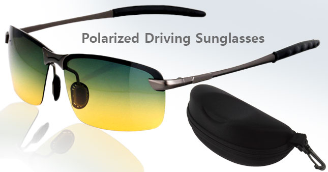50% OFF! Polarized Anti-Glare Night Driving Glasses with Pouch worth Rs. 3,500 for just Rs.1,750!