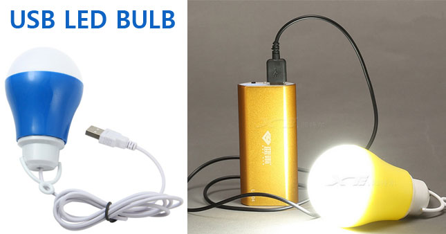 40% OFF! USB Powered 5W Portable Hook LED Bulb worth Rs. 399 for just Rs. 240!