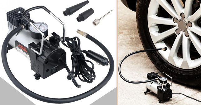 40%  OFF! Portable Heavy Duty Metal Body Electric Car Tire Inflator/Air-Compressor worth Rs. 6,250 for just Rs. 3,750 inclusive of Warranty!