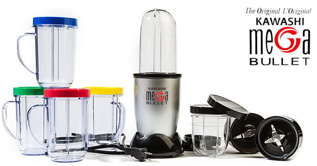 50% OFF! 21 Piece Kawashi Original Mega Bullet Blender worth Rs.9,000 for just Rs.4,500 Inclusive of Warranty!