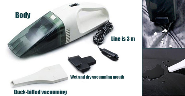 47% OFF! Get High Power Wet & Dry Portable Car Vacuum Cleaner worth Rs.2,300 for just Rs.1,200!