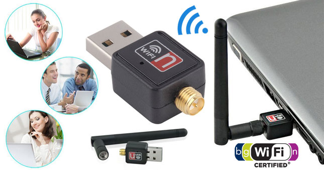50% OFF! Mini 300Mbps USB Wireless WiFi Lan Network Receiver Card Adapter with Antenna worth Rs.2,300 for just Rs.1,150!