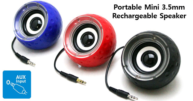 47% OFF! Portable Mini 3.5mm Jack Rechargeable Speaker worth Rs.1,100 for just Rs.550!