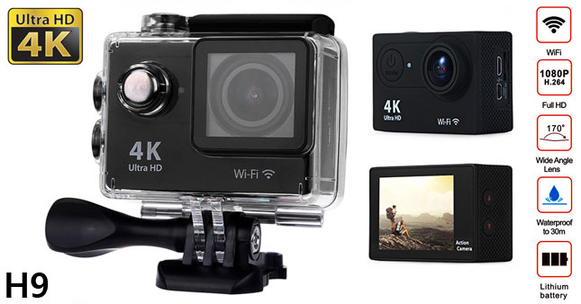 40% OFF! Authentic H9 Ultra HD 4K Wifi Action Camera worth Rs.21,500 for just Rs.12,900!