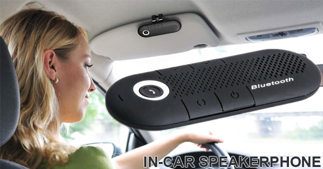 40% OFF! Bluetooth Sun Visor Hands-free In-Car Speakerphone Kit worth Rs.4,100 for just Rs.2,450!