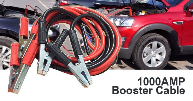 35% OFF! 1000AMP Automobile Battery Booster Cable worth Rs.1,850 for just Rs.1,200!