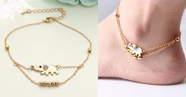 22% OFF! Elegant Baby Elephant Anklet worth Rs. 490 for just Rs. 380!