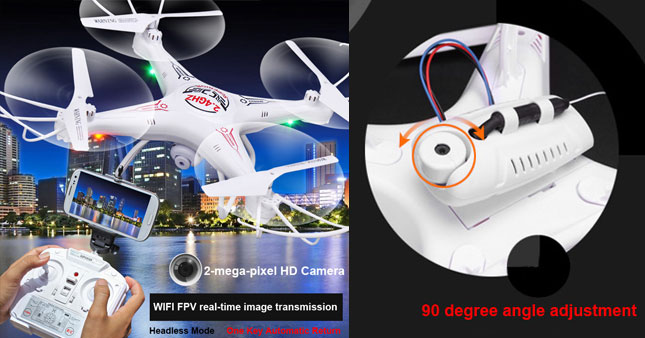 30% OFF! 2.4G 6 Axis Gyro FPV Real-time Video Streaming Camera Quad-Copter Drone worth Rs.12,500 for just Rs.8,750!