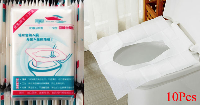 40% OFF! 10pcs Disposable Paper Toilet Seat Covers worth Rs.320 for just Rs.190!