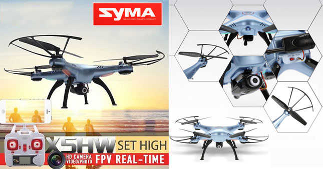 30% OFF! Price further reduced! Syma X5HW-1 WIFI FPV Real-time Camera Drone with Altitude hold function worth Rs.25,000 for just Rs.12,500!