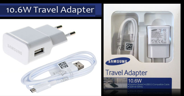 50% OFF! 2 in 1 Samsung Original 10.6W Travel Charger with Detachable High Speed Original Data Cable worth Rs. 2,200 for just Rs. 1,100!