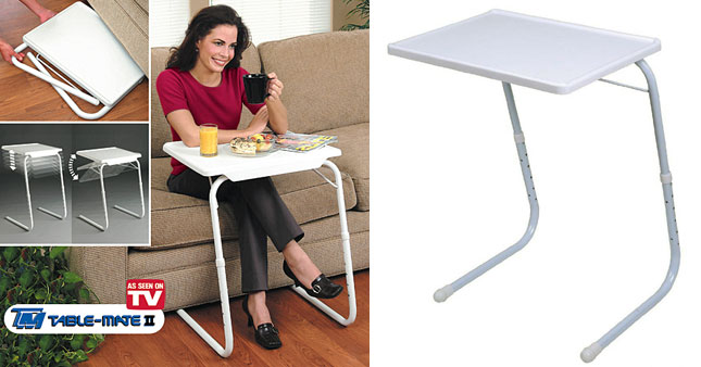 72% OFF! Multi-Functional Table Mate II, the ultimate portable table worth Rs. 5,400 for just Rs. 1,500 As Seen on TV!