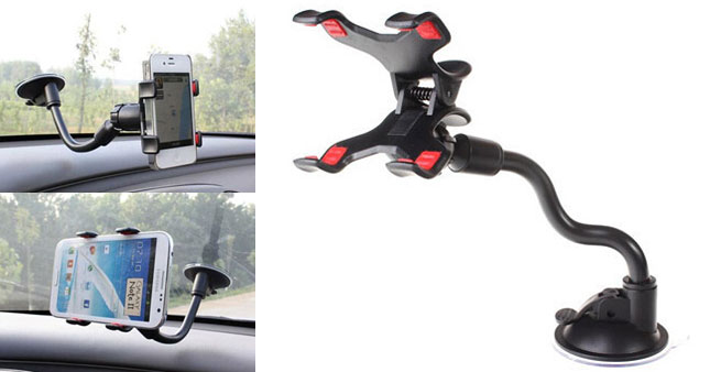 50% OFF! Long Arm Universal Windshield Mobile Phone Car Holder worth Rs.700 for just Rs.350!
