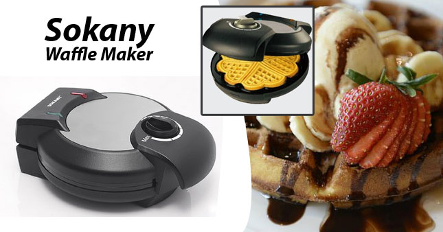 43% OFF! SOKANY Waffle Maker (AJ-3102) worth Rs.4850 for just Rs.2750 Inclusive of Warranty!