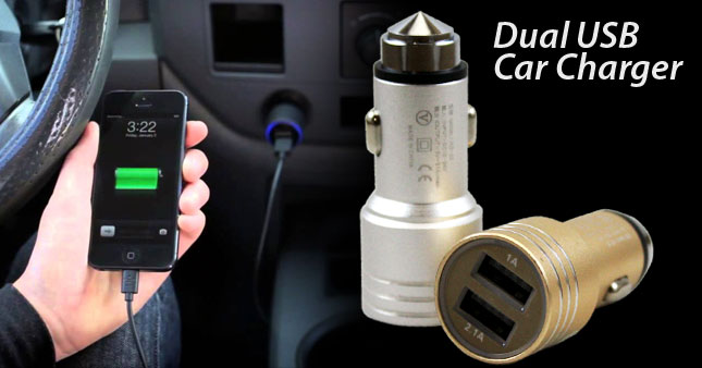 53% OFF! Dual USB Car Charger worth Rs. 750 for just Rs. 350!