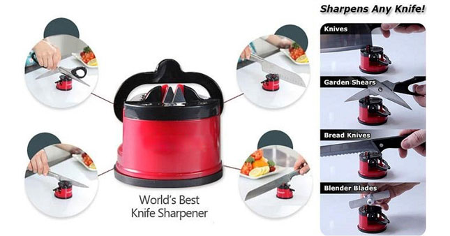 57% OFF! Knife Sharpener with suction Pad worth Rs. 700 for just Rs. 299!