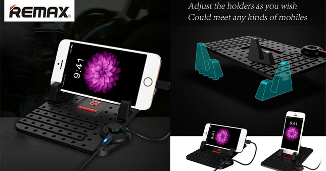 50% OFF! Remax Super Flexible Mat with phone holder for Car Dashboard worth Rs. 3,000 for just Rs. 1,500!